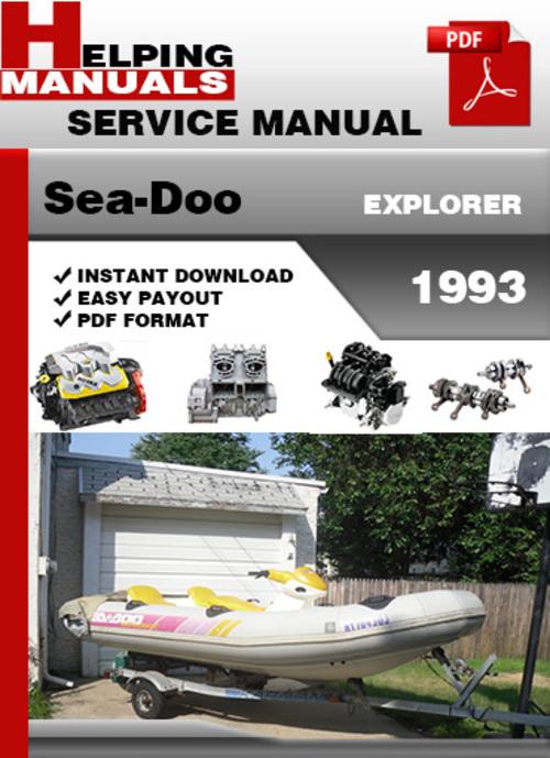 sea doo explorer 1993 service repair manual download download man rh tradebit com 1993 ford explorer repair manual 1993 Explorer XLT 4x4 Specs