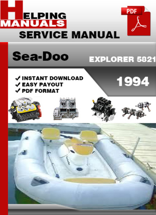 sea doo explorer 1994 service repair manual download download man rh tradebit com 1998 Seadoo Bombardier Sea-Doo Bombardier Logo