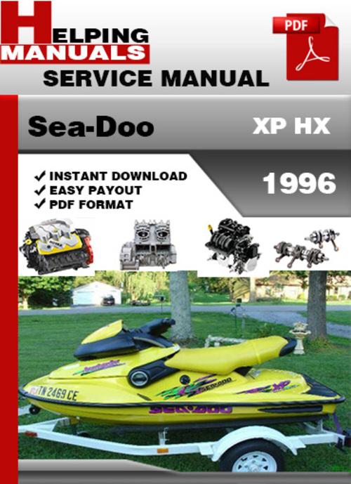 sea doo xp hx 1996 service repair manual download download manual rh tradebit com 97 Seadoo XP 1995 Seadoo XP