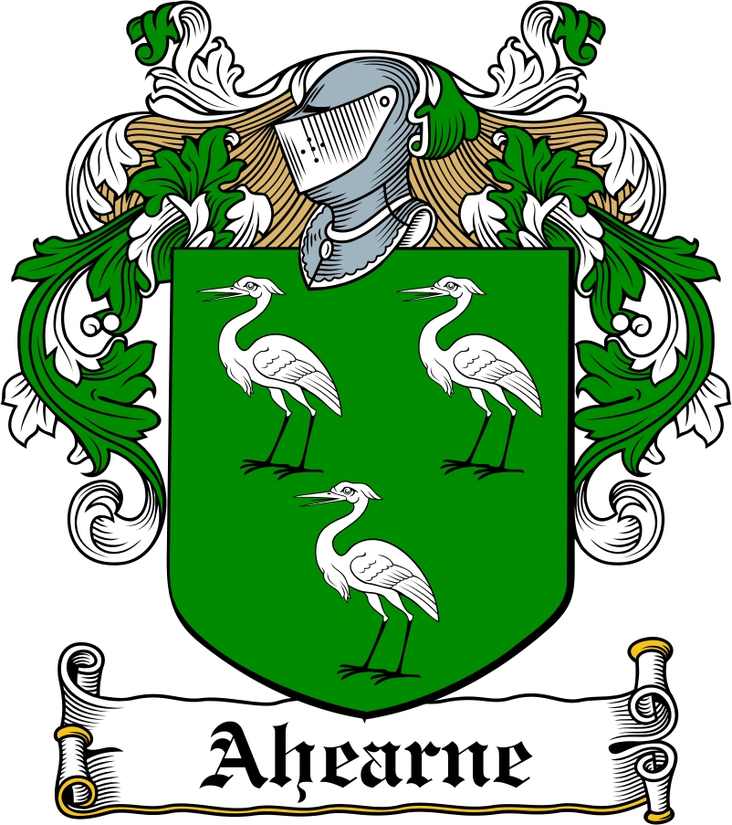 Thumbnail Ahearne Family Crest / Irish Coat of Arms Image Download