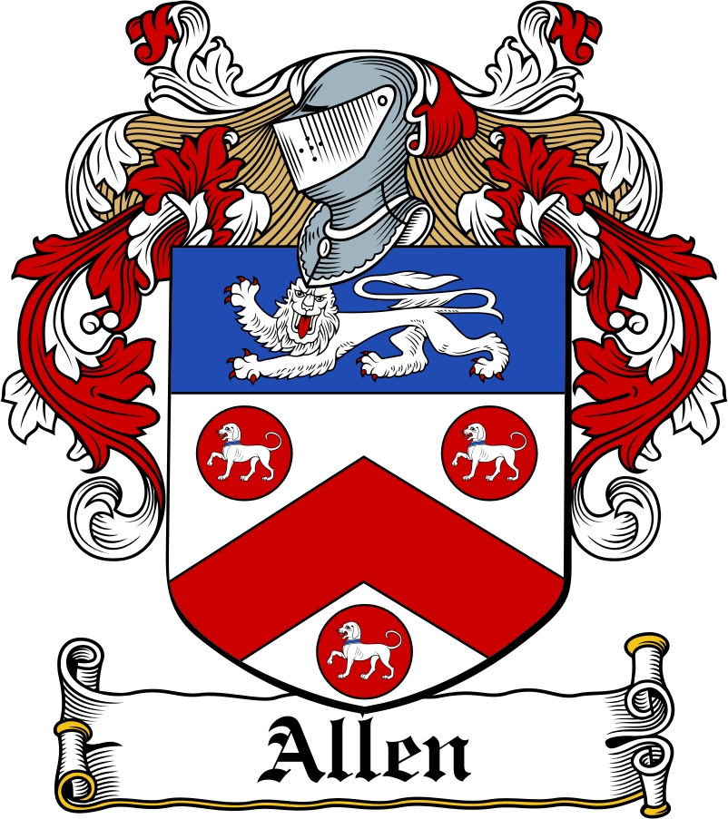 Thumbnail Allen Family Crest / Irish Coat of Arms Image Download