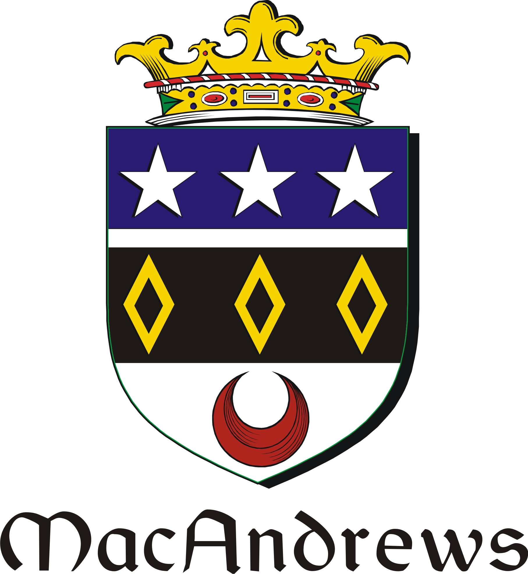 Thumbnail Andrews-Mac Family Crest / Irish Coat of Arms Image Download