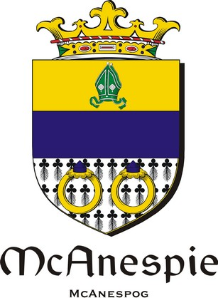 Thumbnail Anespie-Mc Family Crest / Irish Coat of Arms Image Download