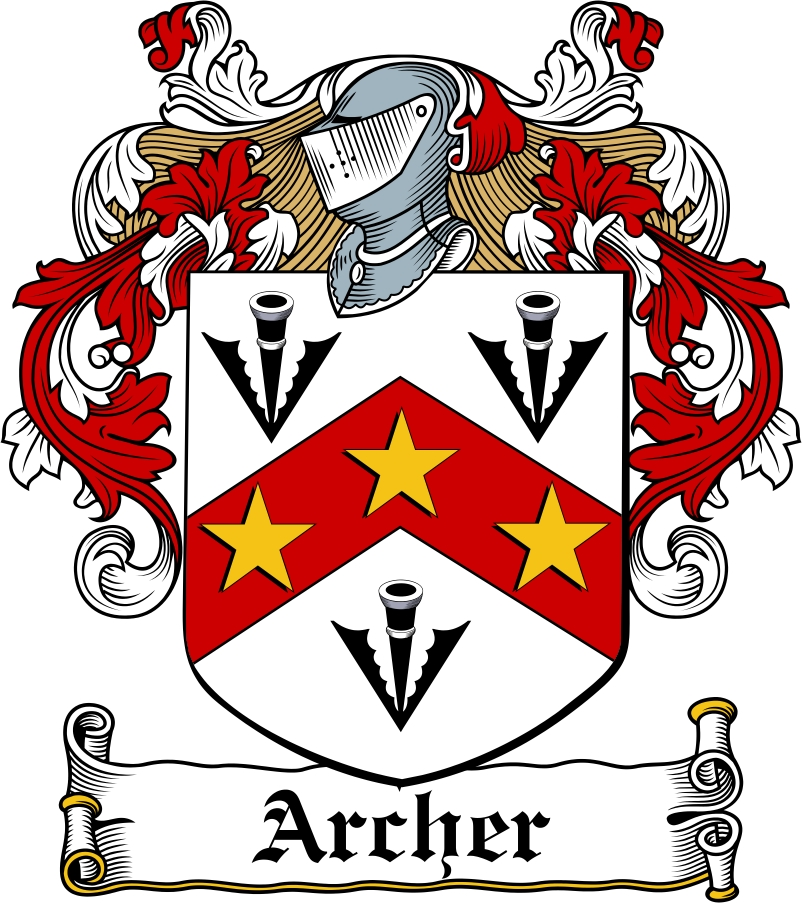 Thumbnail Archer Family Crest / Irish Coat of Arms Image Download