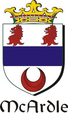 Thumbnail Ardle-Mc Family Crest / Irish Coat of Arms Image Download