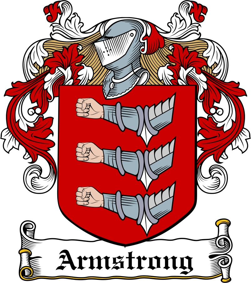 Thumbnail Armstrong Family Crest / Irish Coat of Arms Image Download