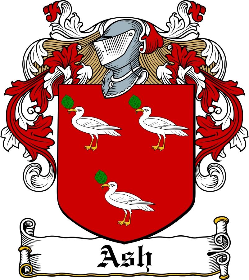 Thumbnail Ash Family Crest / Irish Coat of Arms Image Download