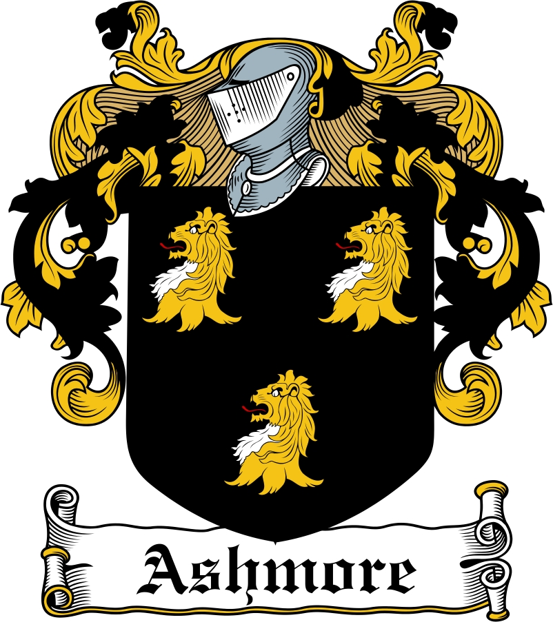 Thumbnail Ashmore Family Crest / Irish Coat of Arms Image Download