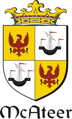 Thumbnail Ateer Family Crest / Irish Coat of Arms Image Download