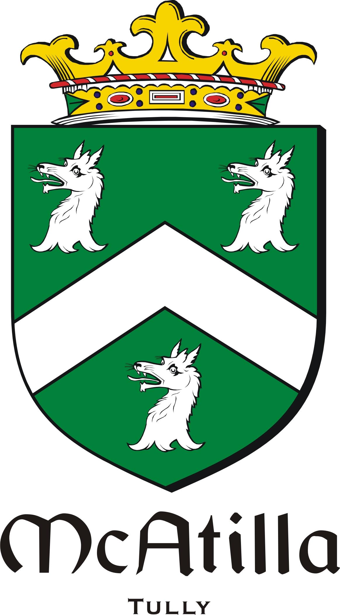 Thumbnail Atilla-Mc Family Crest / Irish Coat of Arms Image Download