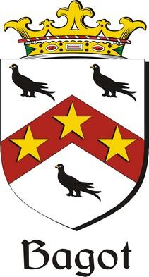 Thumbnail Bagot Family Crest / Irish Coat of Arms Image Download