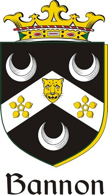 Thumbnail Bannon Family Crest / Irish Coat of Arms Image Download