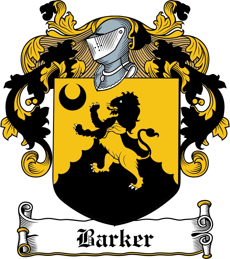 Thumbnail Barker Family Crest / Irish Coat of Arms Image Download