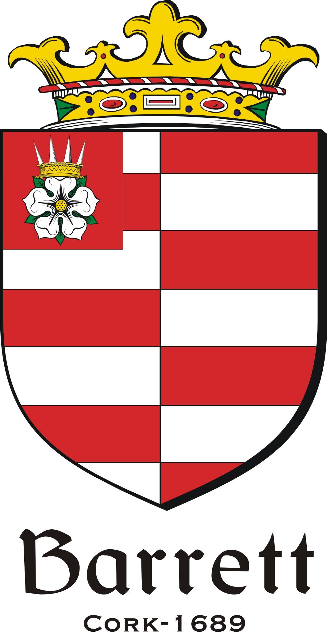 Thumbnail Barrett-1689 Family Crest / Irish Coat of Arms Image Download