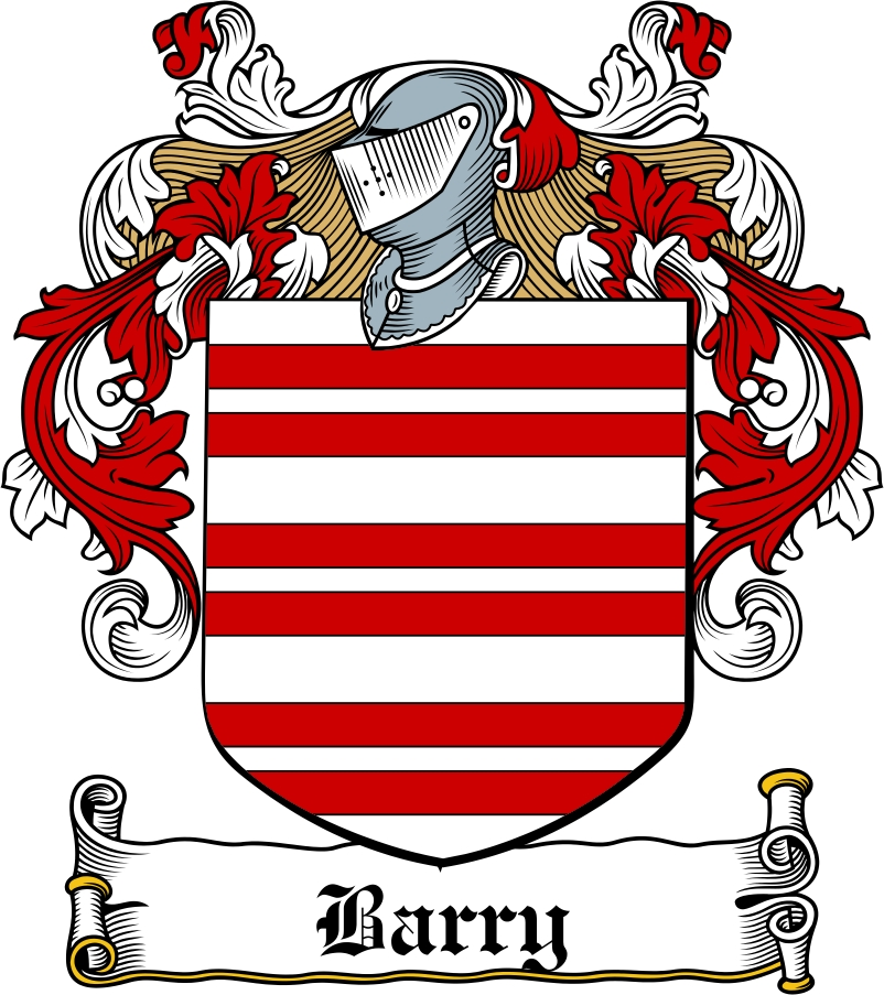 Thumbnail Barry Family Crest / Irish Coat of Arms Image Download