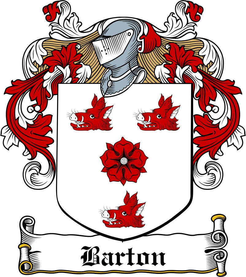 Thumbnail Barton Family Crest / Irish Coat of Arms Image Download