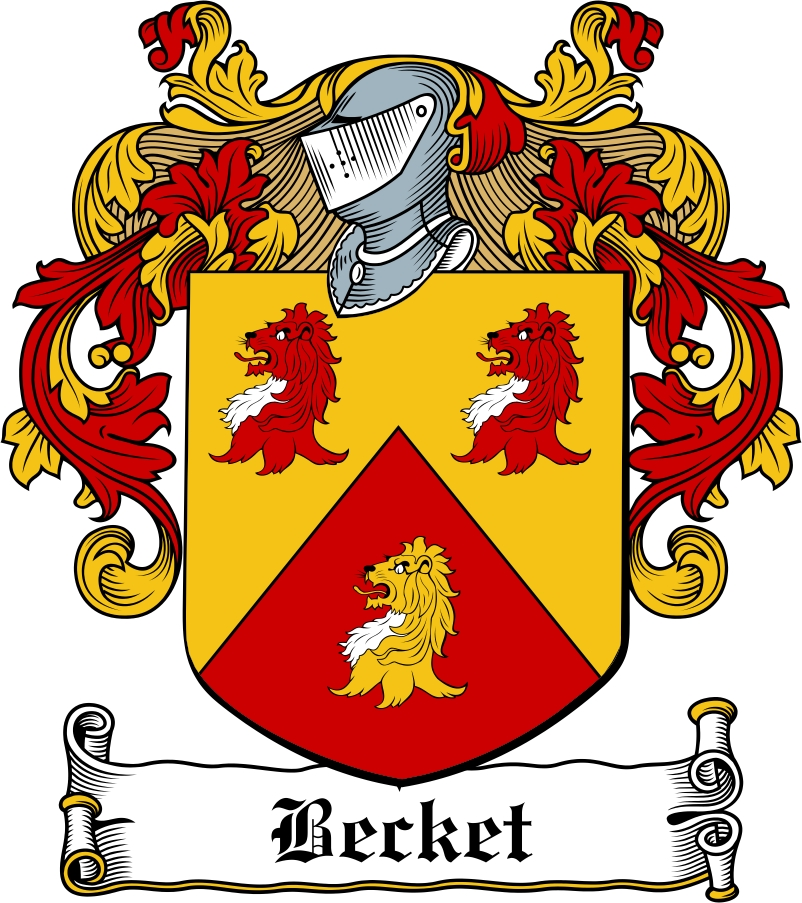 Thumbnail Becket Family Crest / Irish Coat of Arms Image Download
