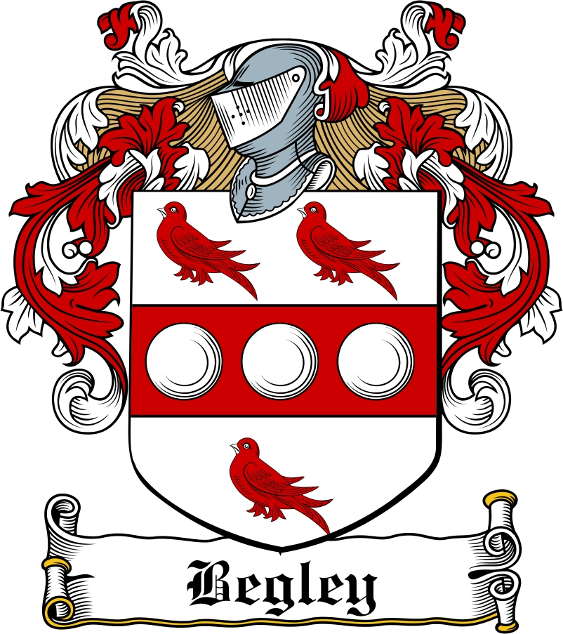 Thumbnail Begley Family Crest / Irish Coat of Arms Image Download