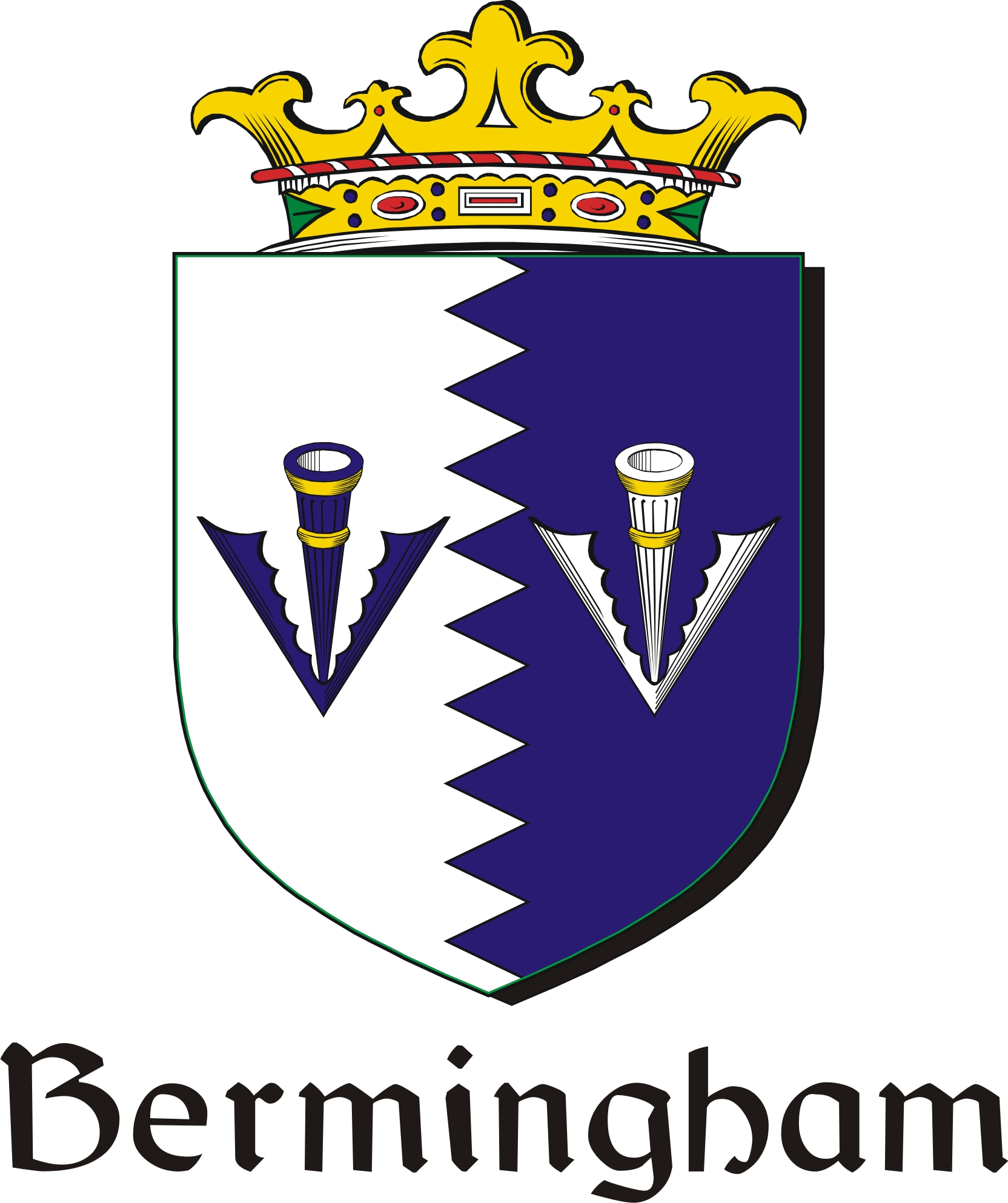 Thumbnail Bermingham Family Crest / Irish Coat of Arms Image Download