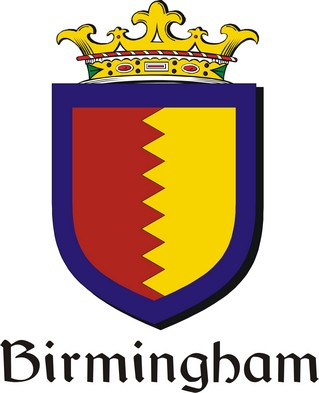 Thumbnail Birmingham Family Crest / Irish Coat of Arms Image Download