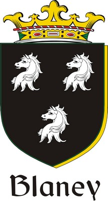 Thumbnail Blaney Family Crest / Irish Coat of Arms Image Download
