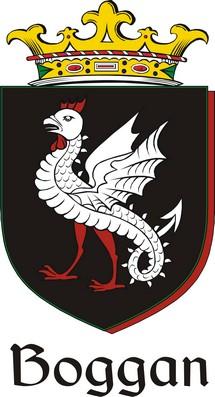 Thumbnail Boggan Family Crest / Irish Coat of Arms Image Download