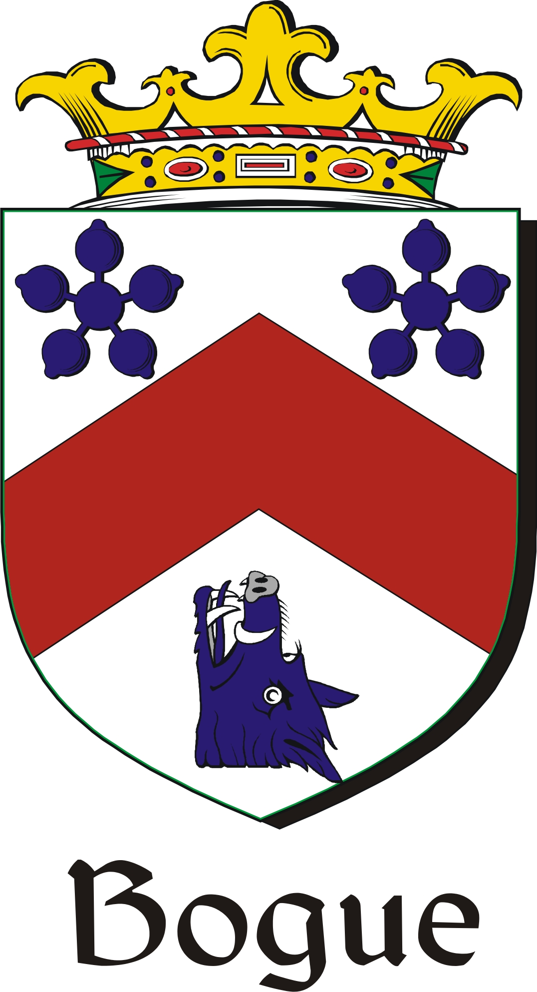 Thumbnail Bogue Family Crest / Irish Coat of Arms Image Download