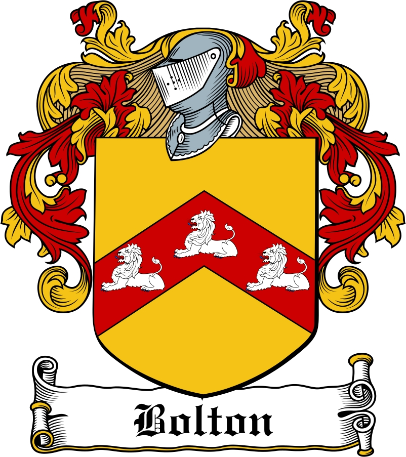 Thumbnail Bolton Family Crest / Irish Coat of Arms Image Download