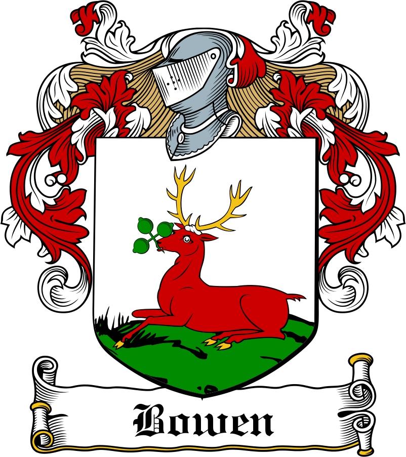Thumbnail Bowen Family Crest / Irish Coat of Arms Image Download