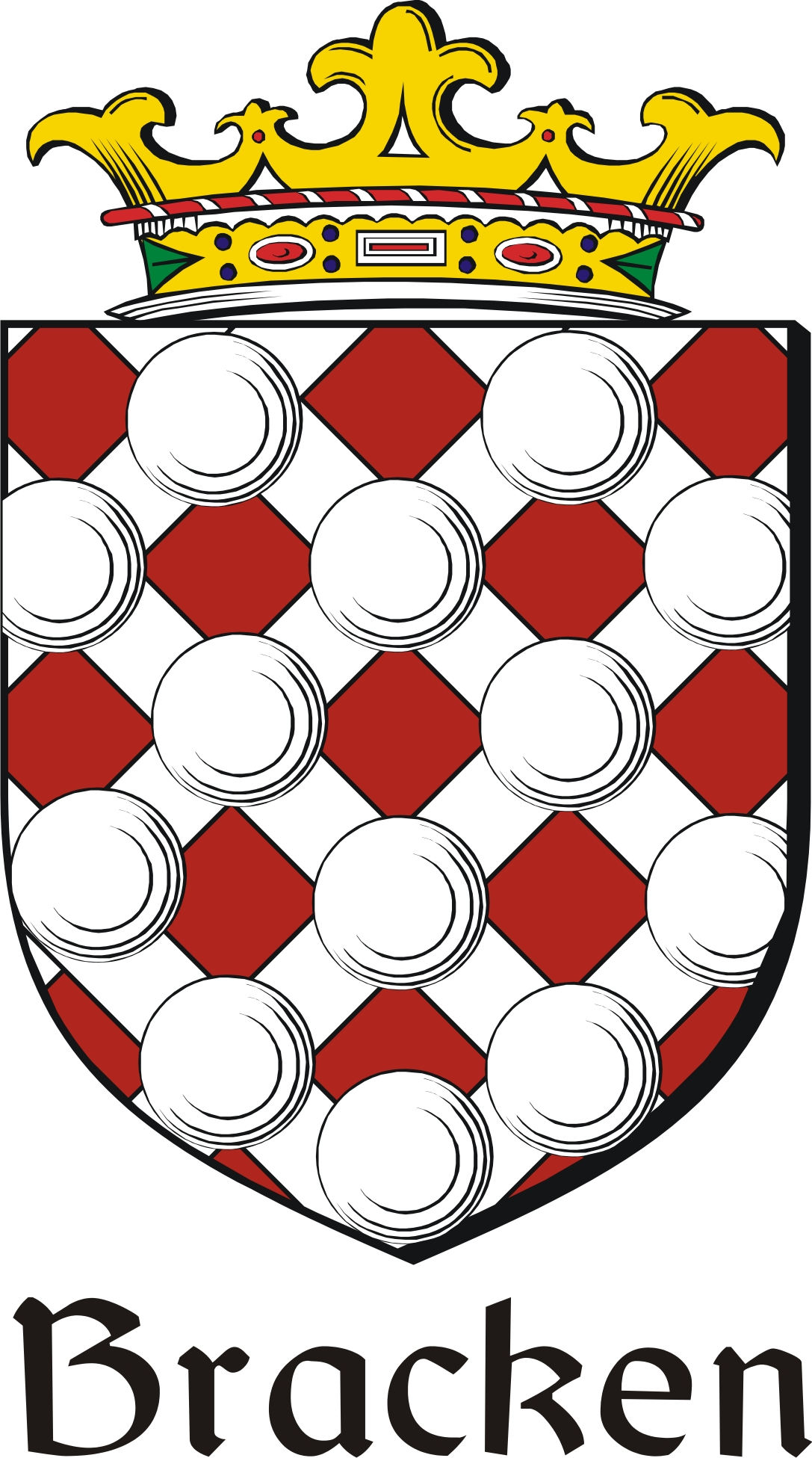 Thumbnail Bracken Family Crest / Irish Coat of Arms Image Download