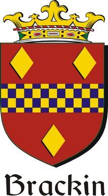 Thumbnail Brackin Family Crest / Irish Coat of Arms Image Download