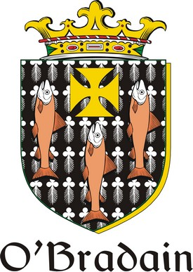 Thumbnail Bradain-O Family Crest / Irish Coat of Arms Image Download