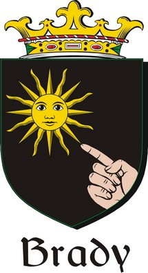 Thumbnail Brady Family Crest / Irish Coat of Arms Image Download