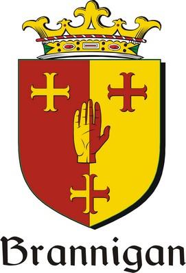 Thumbnail Brannigan Family Crest / Irish Coat of Arms Image Download