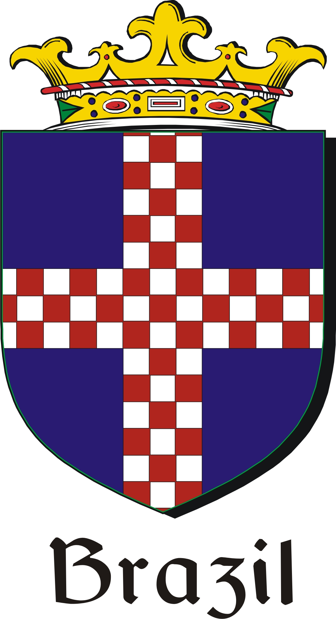 Thumbnail Brazil Family Crest / Irish Coat of Arms Image Download