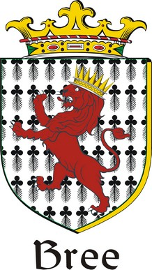 Thumbnail Bree Family Crest / Irish Coat of Arms Image Download