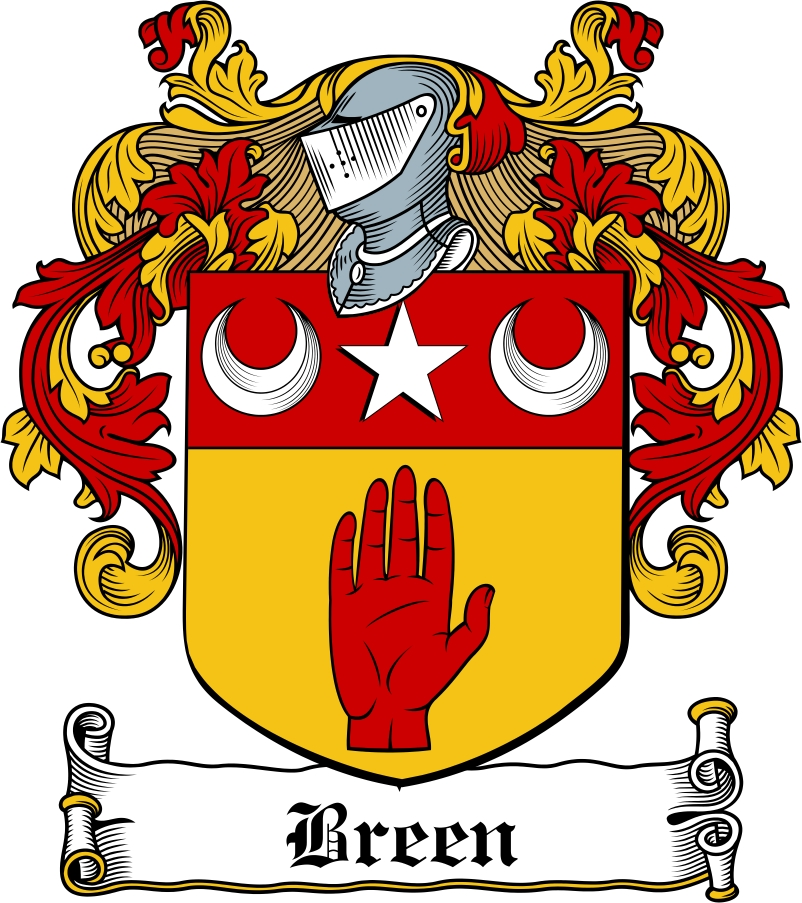 Thumbnail Breen Family Crest / Irish Coat of Arms Image Download