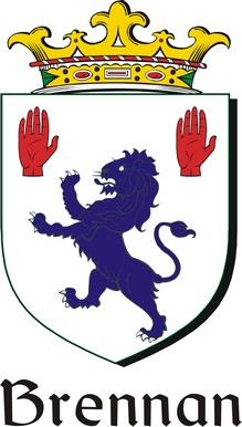 Thumbnail Brennan Family Crest / Irish Coat of Arms Image Download