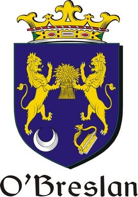 Thumbnail Breslan-O Family Crest / Irish Coat of Arms Image Download