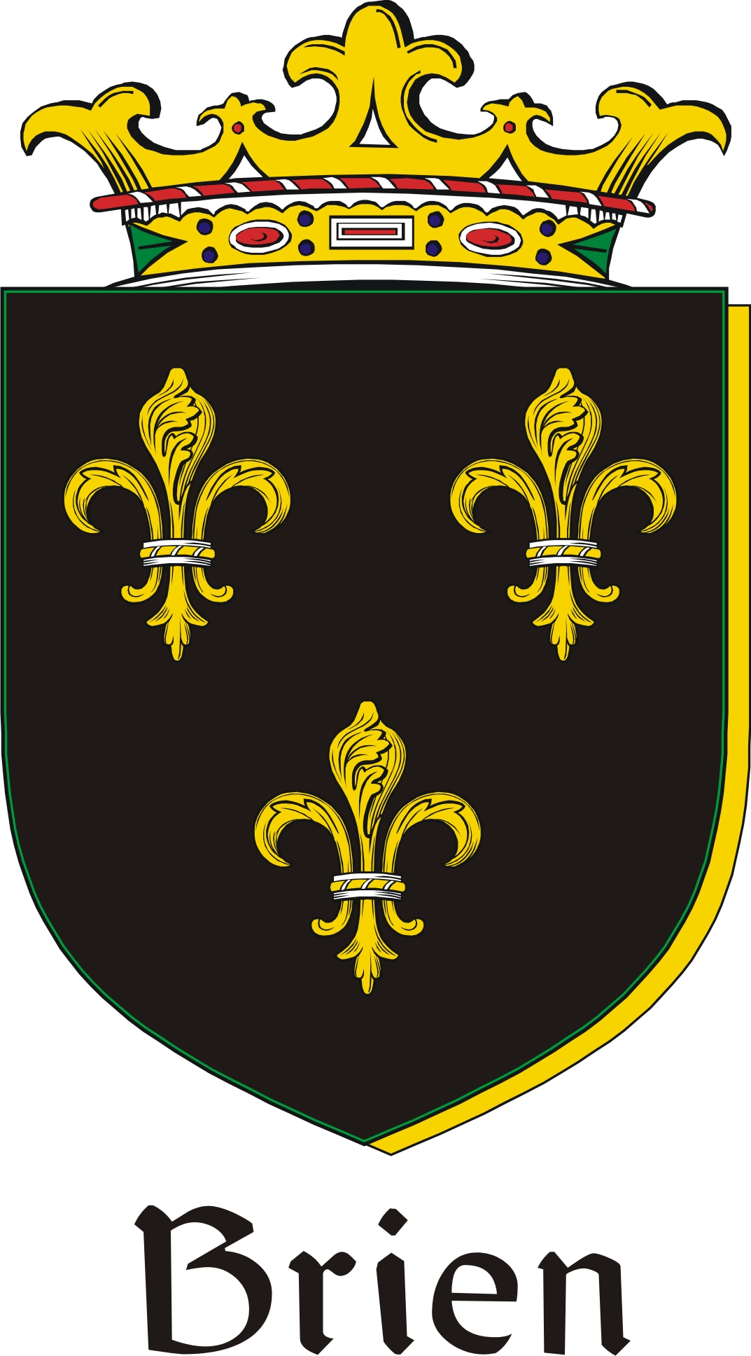 Thumbnail Brien Family Crest / Irish Coat of Arms Image Download