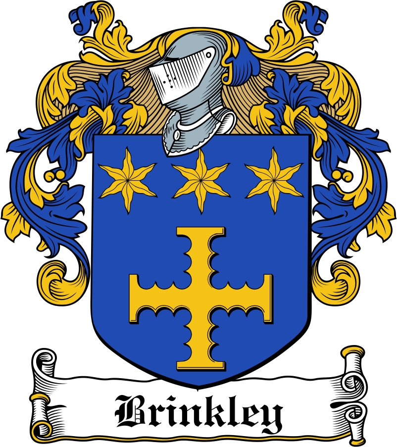 Thumbnail Brinkley Family Crest / Irish Coat of Arms Image Download
