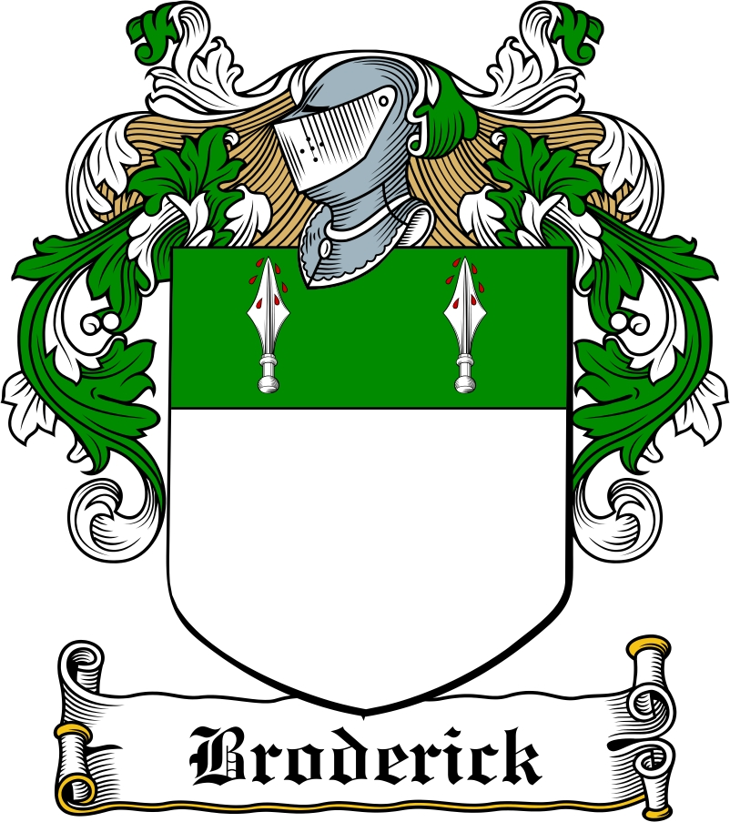 Thumbnail Broderick Family Crest / Irish Coat of Arms Image Download
