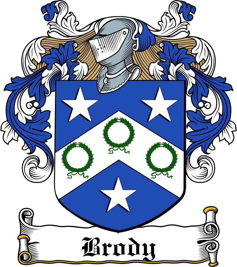 Thumbnail Brody Family Crest / Irish Coat of Arms Image Download