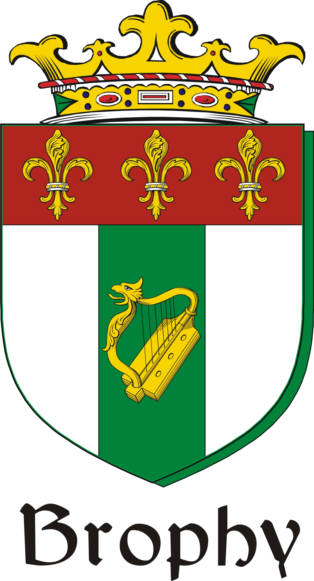 Thumbnail Brophy Family Crest / Irish Coat of Arms Image Download