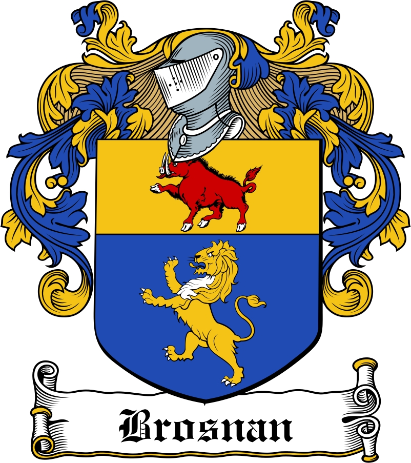 Thumbnail Brosnan Family Crest / Irish Coat of Arms Image Download