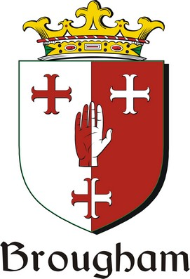 Thumbnail Brougham Family Crest / Irish Coat of Arms Image Download
