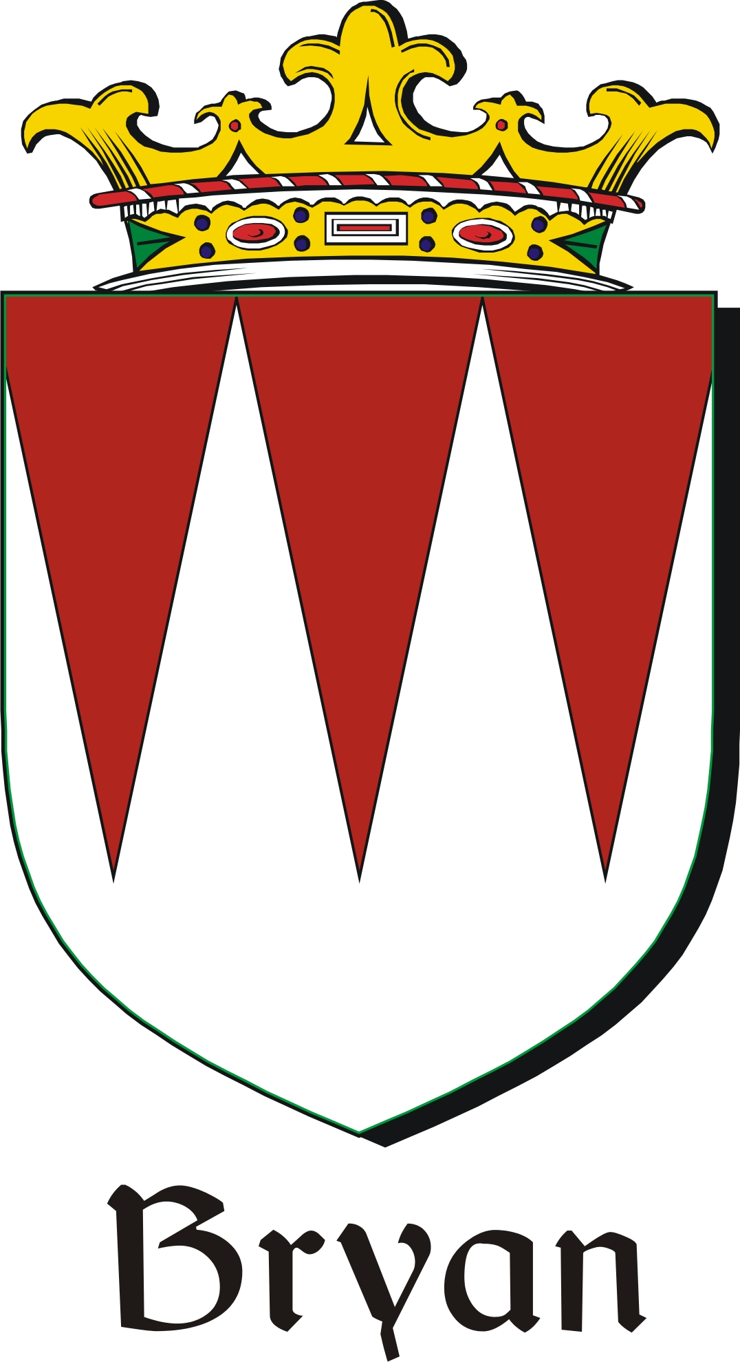 Thumbnail Bryan Family Crest / Irish Coat of Arms Image Download