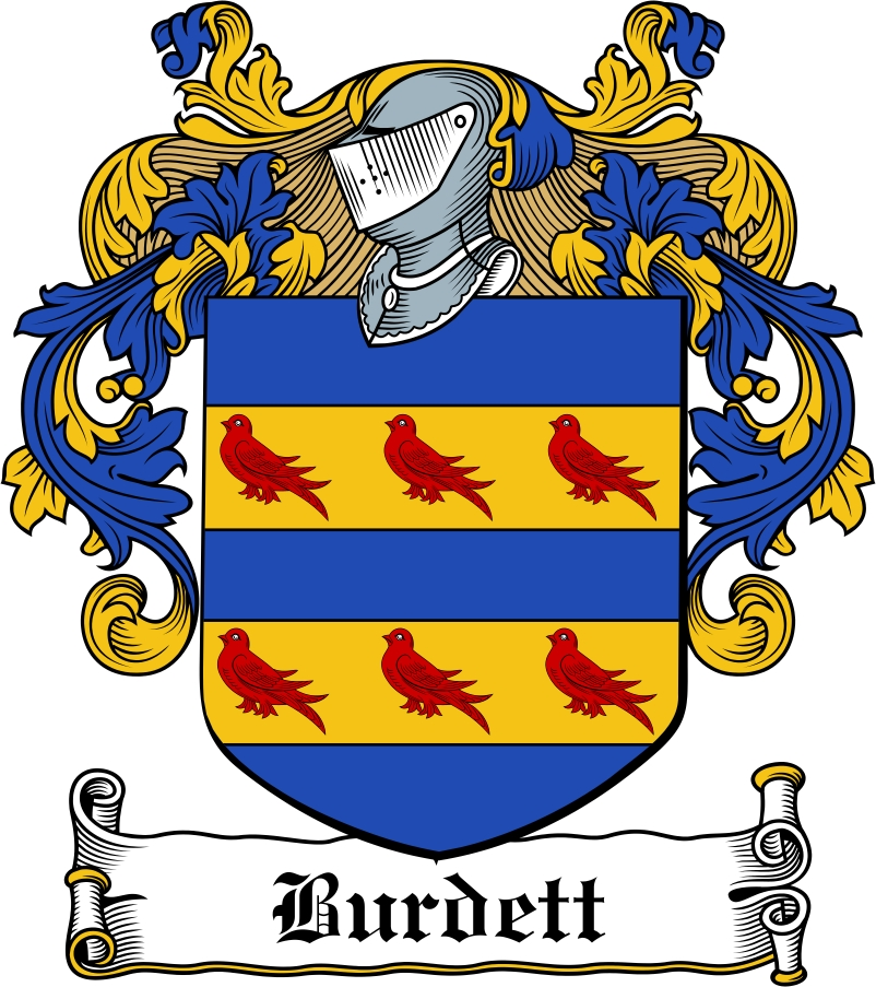 Thumbnail Burdett Family Crest / Irish Coat of Arms Image Download