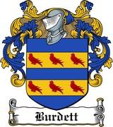 Thumbnail Burdett Family Crest / Irish Coat of Arms Image Download