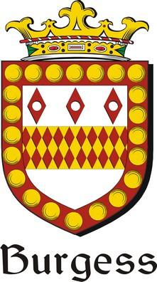Thumbnail Burgess Family Crest / Irish Coat of Arms Image Download
